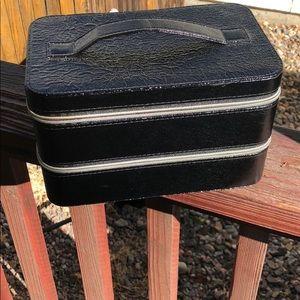 NEW LANCÔME BLACK TRAIN CASE/ COSMETIC CASE